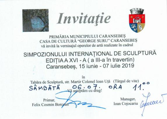 Invitatie Simpozion Sculptura